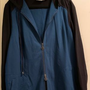 Louis Dell'Olio ZIP Front Hooded Dress NWOT